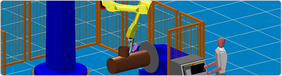 Fanuc robot in a complex pipe welding application
